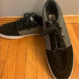 Black/grey Vans, size 11.5, men's shoe